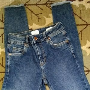 Sz 4 Cotton On Mid Grazer Skinny Distressed Jeans
